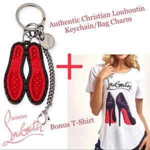 Christian Louboutin Red Sole Keychain/Bag Charm++